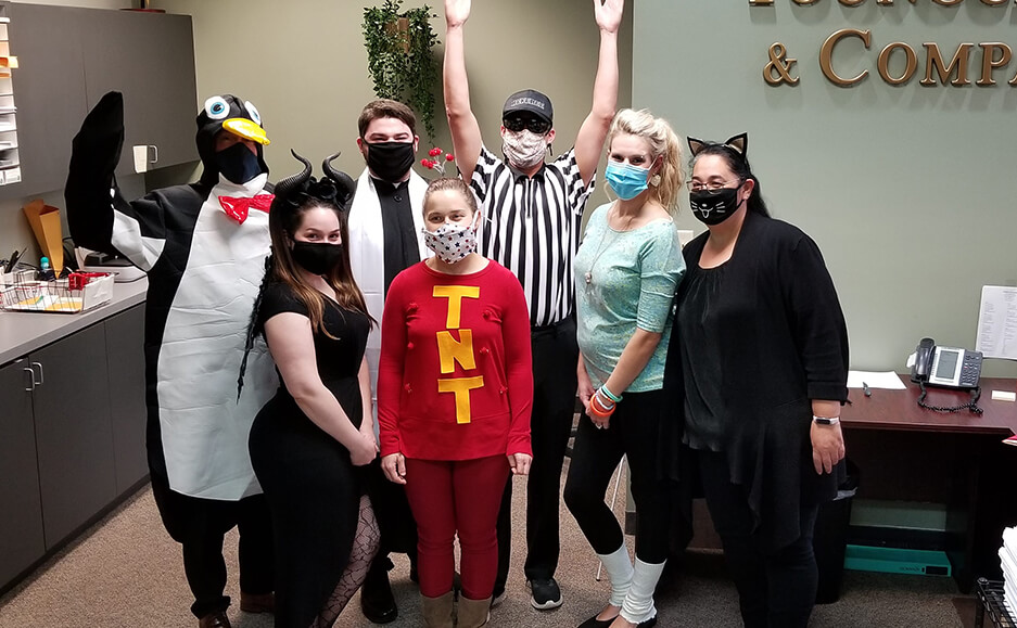 team picture at Halloween - best cpa accounting firm to work for in seacoast new hampshire 1