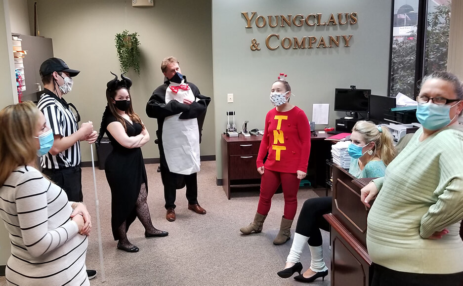 team picture at Halloween - best cpa accounting firm to work for in seacoast new hampshire 2